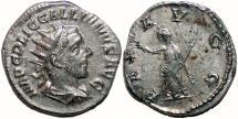 Ancient Coins - GALLIENUS AR Antoninianus (joint reign). EF-. PAX AVGG. Scarce