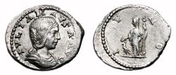 Ancient Coins - JULIA MAESA AR Denarius. EF-/VF+. Antioch mint. IVNO.