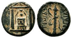 Ancient Coins - PERGE (Pamphylia) AE16. VF+/EF-. Artemis Pergaia within temple.
