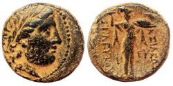 Ancient Coins - SELEUKOS I Nikator AE20. VF+/EF-. Athena Promachos.