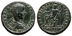 Ancient Coins - NIKOPOLIS AD ISTRUM (Moesia Inferior) AE25. Diadumenian. EF/EF-. Zeus seated.