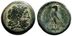 Ancient Coins - PTOLEMY II AE30 (Hemidrachm). EF-/VF+. Alexandria mint. Eagle.