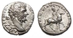 Ancient Coins - SEPTIMIUS SEVERUS AR Denarius. EF-/VF+. ADVENTVI AVG FELICISSIMO.