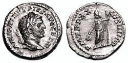 Ancient Coins - CARACALLA AR Denarius. EF. P M TR P XX COS IIII P P - Serapis.