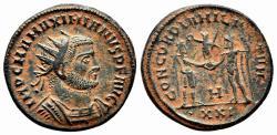 Ancient Coins - MAXIMIANUS HERCULIUS AE Antoninianus. EF+/EF. Antioch mint. CONCORDIA MILITVM.