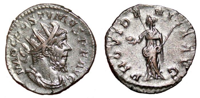 Ancient Coins - POSTUMUS AR Antoninianus. EF-/VF+. Treveri mint. PROVIDENTIA AVG