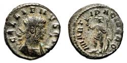 Ancient Coins - GALLIENUS Bi Antoninianus. VF+/EF-. MARTI PACIFERO.
