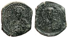 Ancient Coins - CONSTANTINE X AE Follis. EF. AD 1059-1067. Constantinople. Christ.