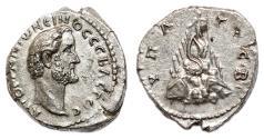 Ancient Coins - ANTONINUS PIUS AR Drachm. EF. Caesarea (Cappadocia) mint. Mount Argaeus.