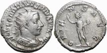 Ancient Coins - GORDIAN III AR Antoninianus. VF+. Antioch mint. ORIENS AVG.