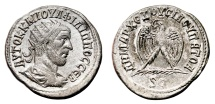 Ancient Coins - PHILIP I the Arab AR Tetradrachm. EF+/EF with original LUSTER. Radiated bust. Eagle.