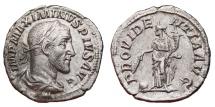 Ancient Coins - MAXIMINUS I THRAX AR Denarius. EF. PROVIDENTIA AVG. Superb Quality!!!