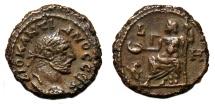Ancient Coins - DIOCLETIAN Bi (Potin) Tetradrachm. VF+/EF-. Alexandria mint. Zeus seated - Year 7.