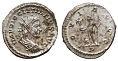 Ancient Coins - DIOCLETIAN Bi Antonininus. EF. FULLY SILVERED. Lugdunum mint. IOVI AVGG. Superb and Uncommon!