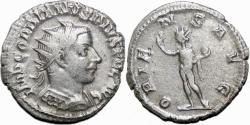 Ancient Coins - GORDIAN III AR Antoninianus. VF+. Antioch mint. ORIENS AVG.