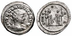 Ancient Coins - CLAUDIUS II GOTHICUS Bi Antoninianus. EF/EF+. FULLY SILVERED. CONCOR AVG.