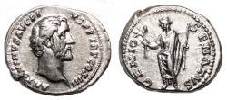 Ancient Coins - ANTONINUS PIUS AR Denarius. EF-. GENIO SENATVS.