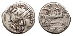 Ancient Coins - M. Junius Silanus AR Denarius. VF+. 145 BC. The Dioscuri.