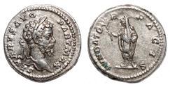 Ancient Coins - SEPTIMIUS SEVERUS AR Denarius. EF. Septimius veiled - FVNDATOR PACIS.