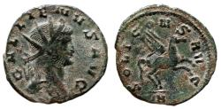 Ancient Coins - GALLIENUS AE Antoninianus. VF+. Pegasus - SOLI CONS AVG.