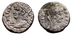 Ancient Coins - NERO Bi Tetradrachm. EF-/VF+. Alexandria mint. HERA - Year 14.