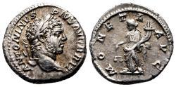 Ancient Coins - CARACALLA AR Denarius. EF/EF-. MONETA AVG.