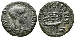 Ancient Coins - CAESAREA of CAPPADOCIA AE22. Gordian III. VF+/EF-. Grain Ears.