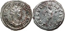 Ancient Coins - CARINUS Bi Antoninianus. VF+. Lugdunum mint. SILVERED. (3,5 g) SAECVLI FELICITAS.