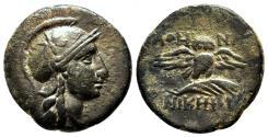 Ancient Coins - PERGAMON (Mysia) AE17. EF-/VF+. Athena-Owl.