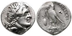 Ancient Coins - PTOLEMY II Philadelphos AR Tetradrachm. VF+. Alexandria. 266 BC. Eagle.