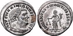 Ancient Coins - MAXIMIANUS HERCULIUS AE Follis. EF+/EF. SILVERED. Ticinum mint. Sacra Moneta.