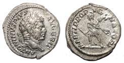 Ancient Coins - CARACALLA AR Denarius. EF+/EF. MARTI PROPVGNATORI.
