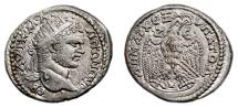 Ancient Coins - CARACALLA AR Tetradrachm. EF/EF+. Zeugma mint. Eagle - Z E V. Very Rare and Superb!