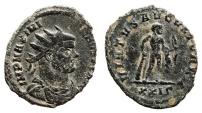Ancient Coins - MAXIMIANUS HERCULIUS AE Antoninianus. VF/VF+. Rome mint. VIRTVS AVGVSTORVM - Hercules. Scarce Reverse.