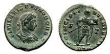 Ancient Coins - CRISPUS AE Follis. EF. Treveri mint. PRINCIPI IVVENTVTIS.