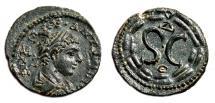 Ancient Coins - AE19 ELAGABALUS. EF+. Antioch (Syria). Wreath - SC.