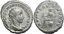 Ancient Coins - GORDIANUS III AR Antoninianus. VF+ (4 g) ROMAE AETERNAE.