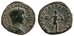 Ancient Coins - GORDIAN III Sestertius. VF/VF+. MARTEM PROPVGNATOREM. Scarce reverse.