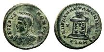 Ancient Coins - CRISPUS AE3 (Centenonial). EF-. Londinium mint. BEATA TRANQVILLITAS - Altar.