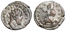 Ancient Coins - POSTUMUS AR Antoninianus. VF/VF+. Lugdunum mint. MINER FAVTR. Scarce Reverse
