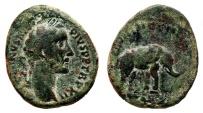 Ancient Coins - ANTONINUS PIUS AE As. F+. Elephant - MVNIFICENTIA AVG. Rare!