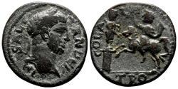Ancient Coins - ALEXANDRIA TROAS AE24. Severus Alexander. VF+. Emperor-Apollo Smintheus.