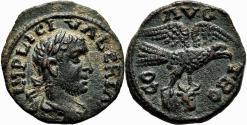 Ancient Coins - ALEXANDRIA TROAS AE20. Valerian I. EF. Eagle - Bull´s Head.