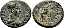 Ancient Coins - SEBASTE (Phrygia) AE20. Nero. VF+. Julios Dionysios, magistrate. Zeus.