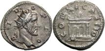 Ancient Coins - ANTONINUS PIUS AR Antoninianus. EF-/VF+. Restoration under Trajanus Decius. Very Scarce!