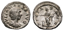 Ancient Coins - JULIA MAESA AR Denarius. EF. PIETAS AVG. Excellent!