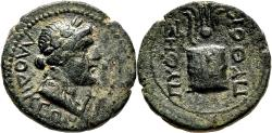 Ancient Coins - LAODICEA AD LYCUM (Phrygia) AE15. Time of Tiberius. EF. Magistrate Pythes.