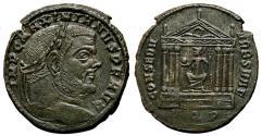 Ancient Coins - MAXIMIANUS HERCULIUS Follis. Struck under Maxentius. EF. Aquileia mint. CONSER VRB SVAE. Scarce!