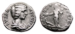 Ancient Coins - JULIA DOMNA AR Denarius. VF+/VF. IVNO REGINA. Early Issue.