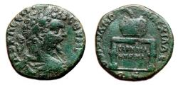 Ancient Coins - SEPTIMIUS SEVERUS AE25. VF. Anchialus (Thrace) mint. Table-Urn.